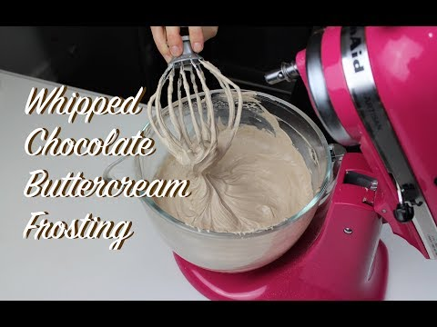 How To Make Whipped Chocolate Buttercream Frosting | CHELSWEETS