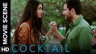 Saif proposes to Diana   Cocktail   Movie Scene
