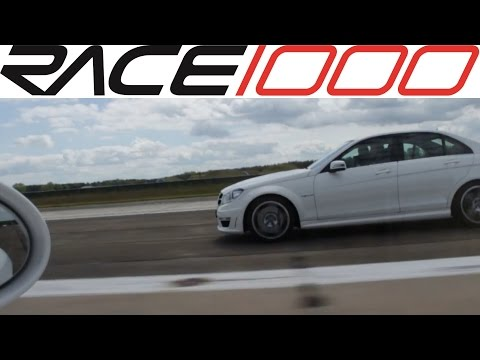 Mercedes C63 AMG vs. Porsche Boxster (with Turbo) - ROLL RACE