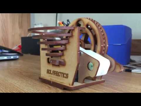 Solarbotics Marble Machine (Battery Powered) - How to Build + Demo - Marble Machine #1