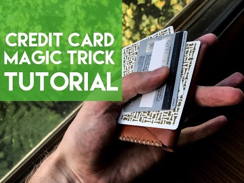 Learn The Credit Card Magic Trick