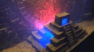 My Diy Custom 3d Mayan Aquarium Background W Calendar Pyramid