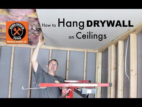 How to Hang Drywall Ceilings -- by Home Repair Tutor