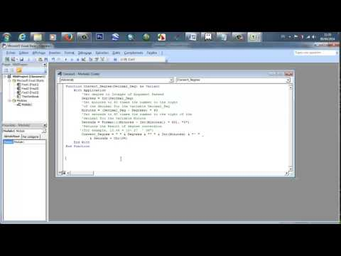 Conversion de degrés décimaux en degrés/minutes/secondes Sous Excel