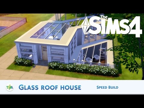 The Sims 4 | GLASS ROOF HOUSE - SPEED BUILD