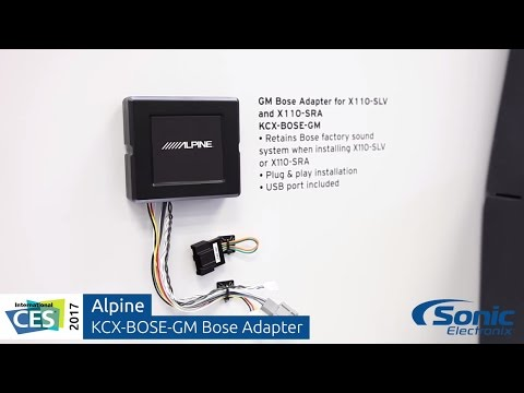Alpine KCX-BOSE-GM Bose Adapter for GM Trucks   CES 2017