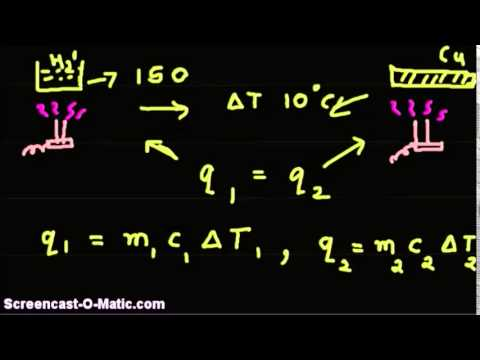 Video tutorial - Given specfic heats, quantity of one substance, find quantity of another
