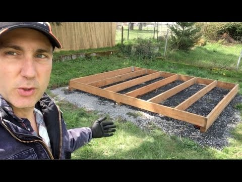 Backyard Build: Building a Tea House—Part 1: Site Prep and Floor Structure