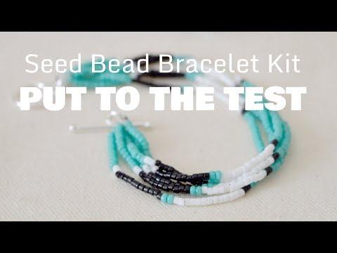 DIY Seed Bead Bracelet | Kit Review [SPONSORED]