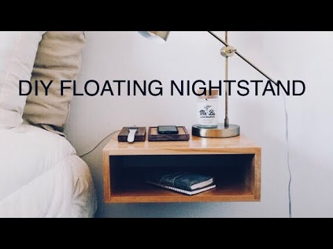 Floating night stand DIY