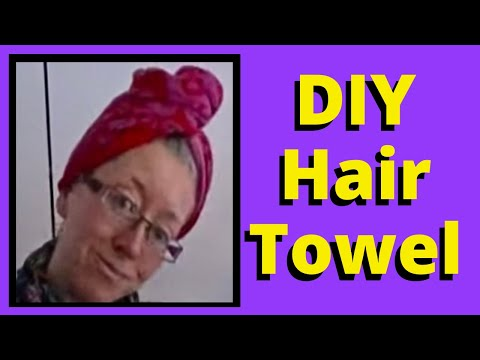 DIY Recycled Spa Towel Turban:  Easy Beginner Sewing Project