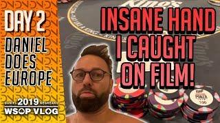 Insane Hand Caught on Film! - 2019 WSOPE VLOG Day 2