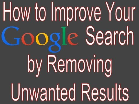 How to Remove Unwanted Results from a Google Search