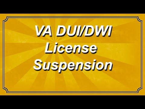 Virginia DUI / DWI License Suspension
