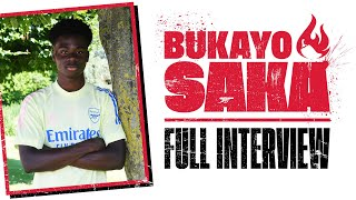 He signed da ting! | Bukayo Saka signs a new contract | Full interview