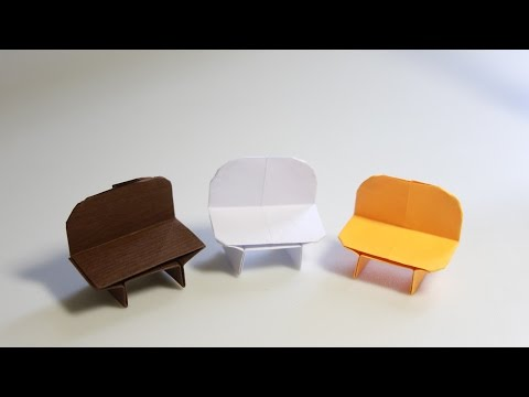 Easy Origami Chair - Origami Bench tutorial (Henry Phạm)