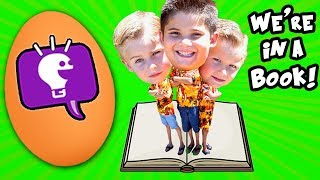 GIANT FAVORITE EGG! Surprises with our BOOK Cover Reveal by HobbyKidsTV
