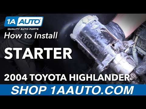 How to Install Replace Starter 2004-07 Toyota Highlander L4 2.4L