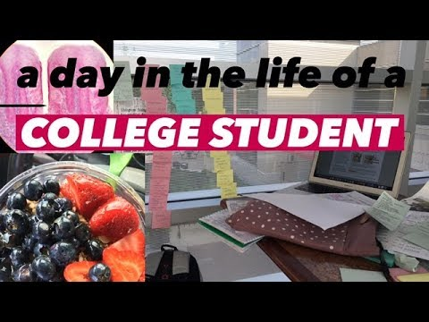 A Day in the Life of a College Student #2 Commuter Study Routine