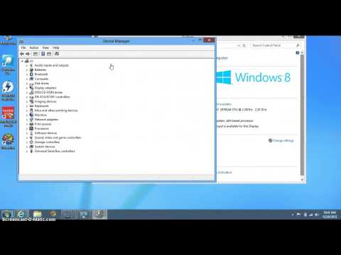 how to access device manager on the new windows 8 OS