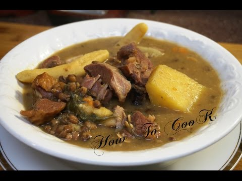HOW TO MAKE THE BEST  JAMAICAN AUTHENTIC GUNGO PEAS SOUP RECIPE 2017