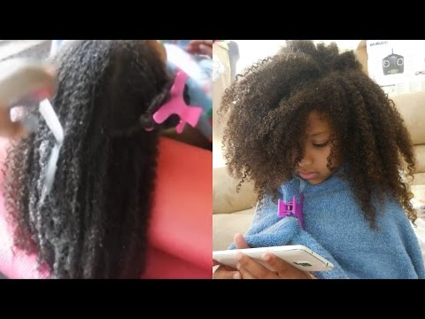 Wash/Style day for kids with CURLY THICK NATURAL hair. NO BRUSH OR COMB!