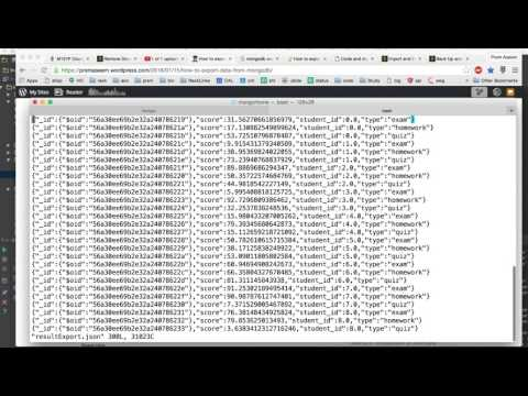 MongoDb Tutorial 6 - How to Import and Export data in Mongo DB