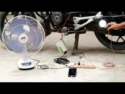 How to Make Emergency Power Generator With Your Bike