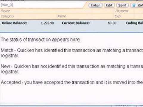 QUCIKEN online banking