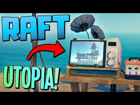 WE FOUND CIVILIZATION?! Following the Secret Transmitter Signal to UTOPIA - Raft Gameplay
