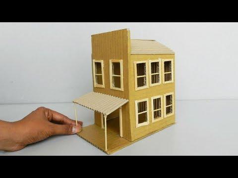 3 Beautiful DIY Cardboard House | Easy Crafts Ideas