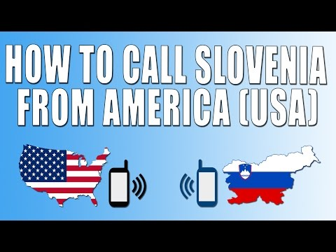 How To Call Slovenia From America (USA)