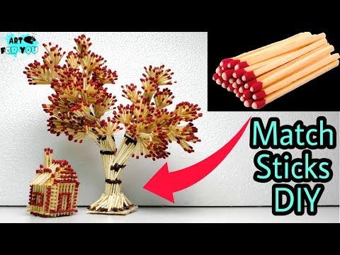 How to make tree from matchsticks | DIY Match sticks Tree | Matchstick crafts