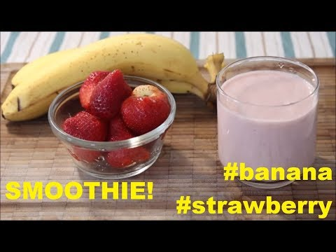 Strawberry Banana Smoothie | ASMR