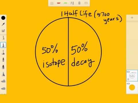 Calculating half life using carbon-14