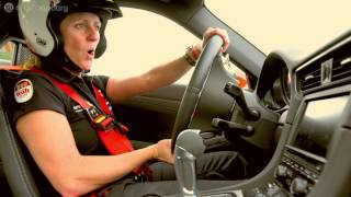 Sabine Schmitz on the Porsche 991 GT3 - Nurburgring
