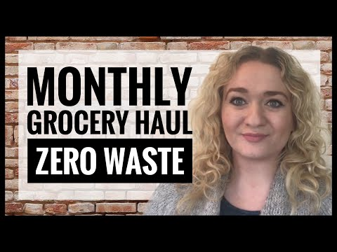 Monthly Grocery Haul UK Morrisons Zero Waste Shopping - Living Plastic Free