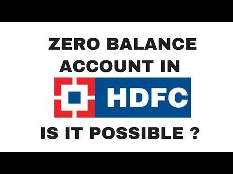 Zero balance saving account in HDFC | HDFC 0 balance account opening | HDFC bank new account opening