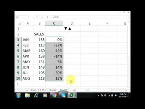 Excel Customize Formatting Up and Down Arrow Symbols || by Training Video