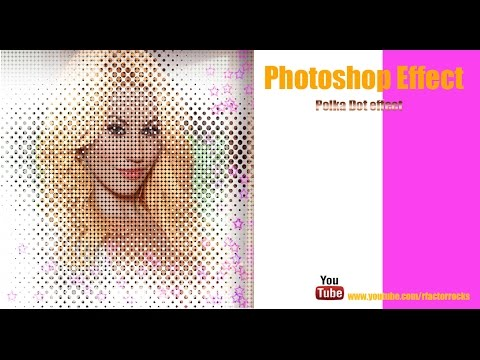 8. Adobe Photoshop  Cs4 Cs5  color Polka dot picture effect tutorial HD[rfactorrocks]