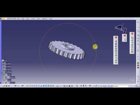 Design of Gear In Catia V5_ catia v5 part Design Tutorial for Beginners _ Gear Design