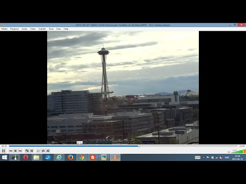 Greyhound trip down West Coast: #1. Border crossing--Vancouver BC—Seattle WA 2015-04-07