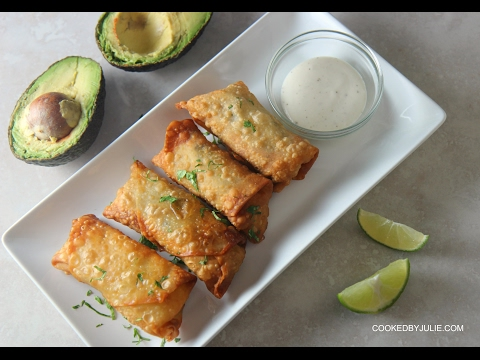 Chicken and Avocado Egg Rolls - Cooked by Julie episode 330