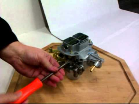 How to change Idle jets in a Weber DGV
