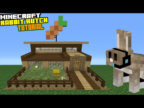 Minecraft Tutorial: How To Make A Rabbit Hutch