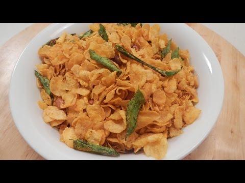 Cornflakes Chewda | Sanjeev Kapoor Khazana