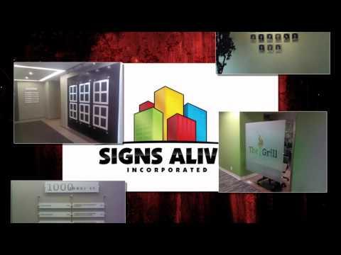 Oakville Interior Business Signs