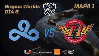 CLOUD9 VS SK TELECOM T1 - GRUPOS - WORLDS 2017 - DÍA 8