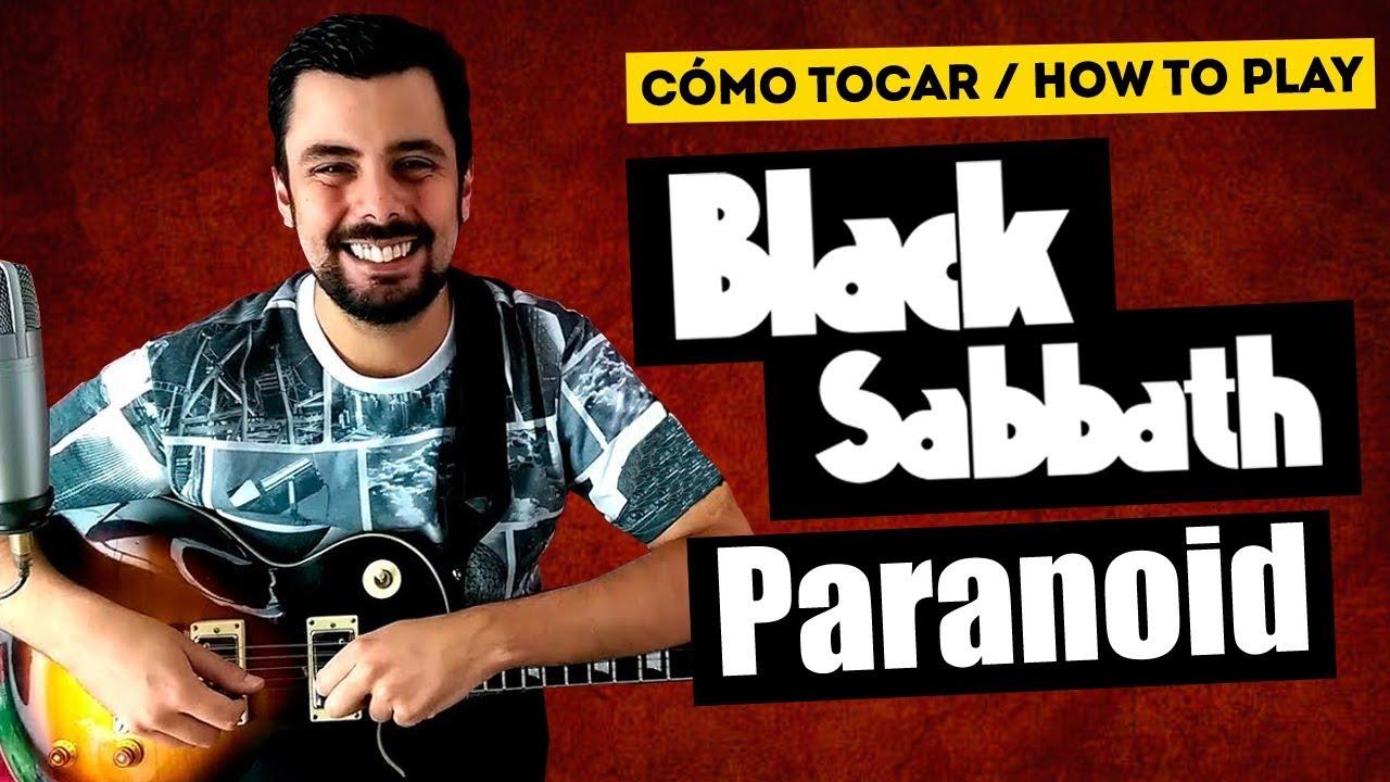 Cómo tocar PARANOID de BLACK SABBATH + SOLO | Tutorial de GUITARRA TABLATURA | Marcos García