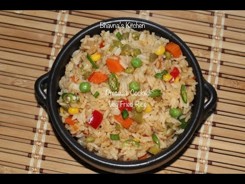 Pressure Cooked Veg Fried Rice Video Recipe | Quickest Instantly | Bhavna's Kitchen